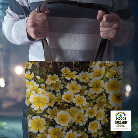 Tote Bags - Irish Poached Egg Flowers Tote Bag Moods of Ireland