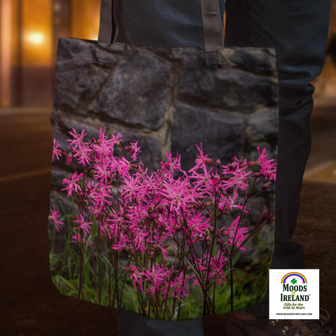 Tote Bags - Wild Irish Ragged Robin Tote Bag Moods of Ireland