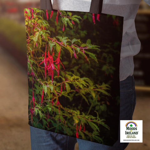 Tote Bags - Wild Irish Fuchsias Tote Bag Moods of Ireland