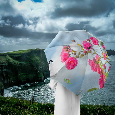 Umbrellas - Wild Irish Roses in County Clare Umbrella Moods of Ireland