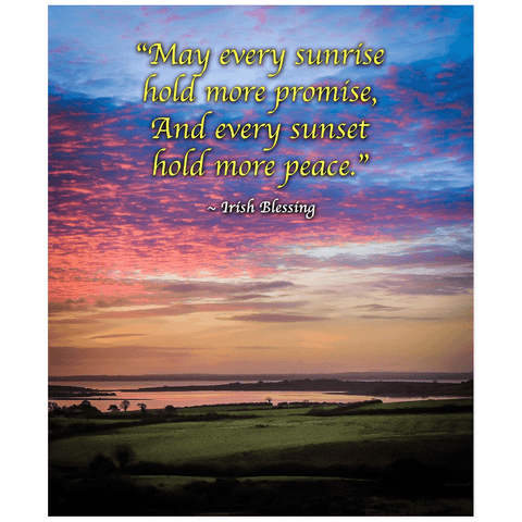 Print - May Every Sunrise Hold More Promise Irish Blessing Poster Print Moods of Ireland 20x24 inch