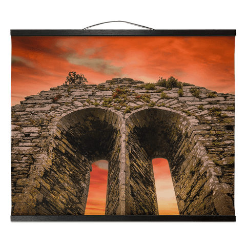 Wall Hanging - A Fleeting Sunrise Over 800 Years of History, County Clare - James A. Truett - Moods of Ireland - Irish Art