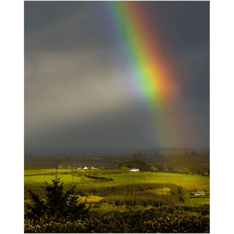 Print - Vibrant Rainbow over County Clare Countryside - James A. Truett - Moods of Ireland - Irish Art