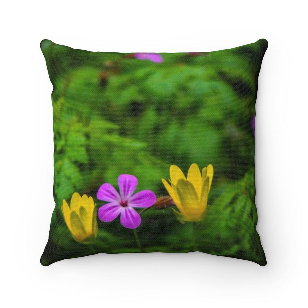 "Throw Pillow Cover - Irish Spring Flowers Home Decor Printify 14"" x 14"""