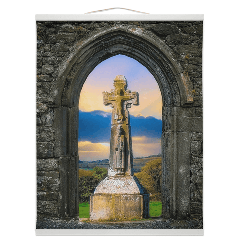 Wall Hanging - 12th Century St. Tola's Cross, County Clare - James A. Truett - Moods of Ireland - Irish Art