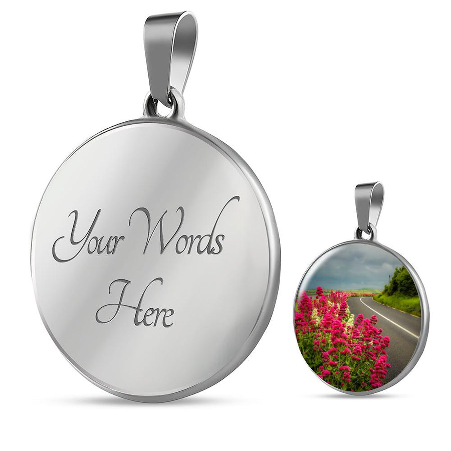Pendant - Valerian Wildflowers near Ballyvaughan, County Clare Jewelry ShineOn Fulfillment