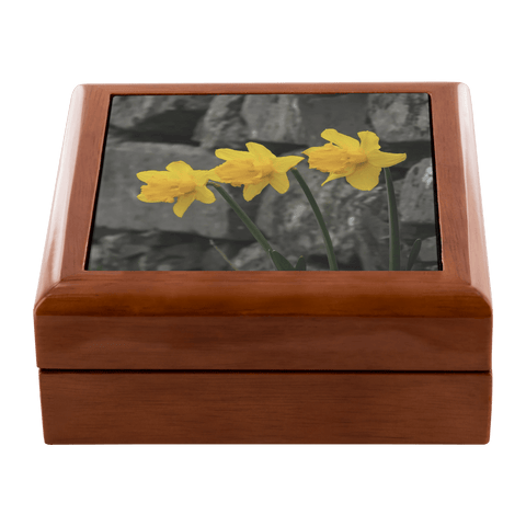 Jewelry Box - Irish Daffodils - James A. Truett - Moods of Ireland - Irish Art