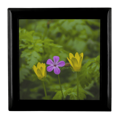 Jewelry Box - Irish Spring Wildflowers Jewelry Box teelaunch Ebony Black