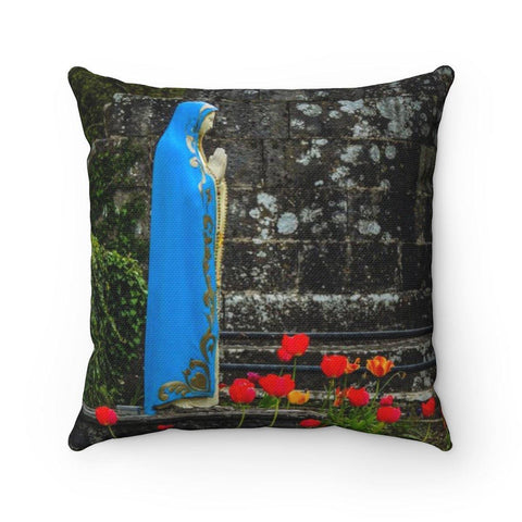 Throw Pillow Cover - Virgin Mary at Quin Abbey, County Clare
