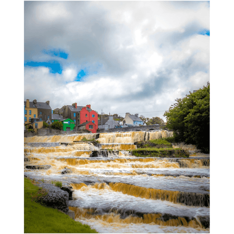 Image of Print - Cascades at Ennistymon, County Clare - James A. Truett - Moods of Ireland - Irish Art