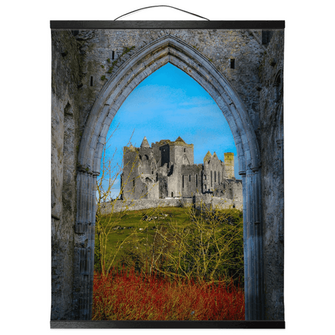 Wall Hanging - Ireland's Wall of Cashel National Monument, County Tipperary Wall Hanging Moods of Ireland 16x20 inch Black