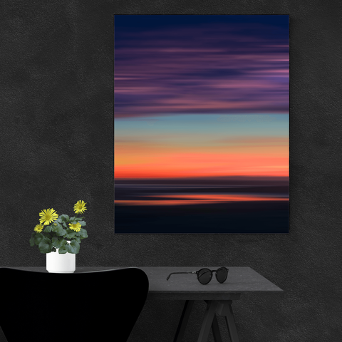 Canvas Wraps - Abstract Sunrise over Ireland's Shannon Estuary Canvas Wrap Moods of Ireland