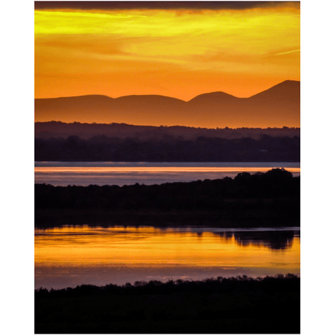 Image of Print - Orange Shannon Estuary Sunrise - James A. Truett - Moods of Ireland - Irish Art