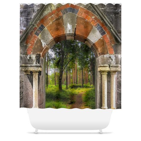Image of Shower Curtain - Portal to Portumna Forest, County Galway - James A. Truett - Moods of Ireland - Irish Art