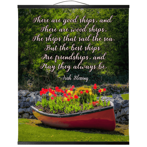 Wall Hanging - Irish Friendship Blessing Wall Hanging Moods of Ireland 20x24 inch Black