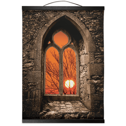 Image of Wall Hanging - Clare Abbey Sunrise, County Clare - James A. Truett - Moods of Ireland - Irish Art
