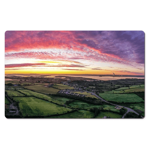 Desk Mat - Sunrise Panorama over Kildysart, County Clare - James A. Truett - Moods of Ireland - Irish Art