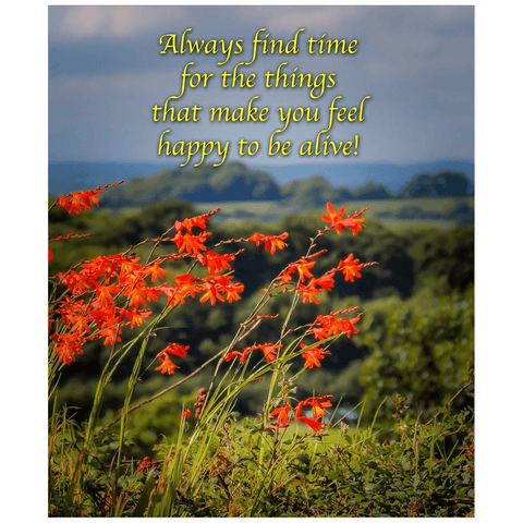 Irish Blessing Print - Always Make Time for the Things That Make you Feel Happy Poster Print Moods of Ireland 20x24 inch