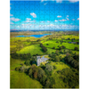 Puzzle - Medieval Dysert O'Dea Castle and Ballycullinan Lough, County Clare - James A. Truett - Moods of Ireland - Irish Art