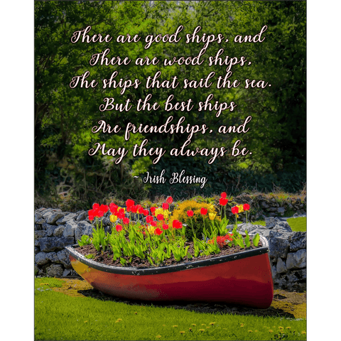 Image of Print - There are Good Ships Irish Friendship Blessing Poster Print Moods of Ireland 8x10 inch
