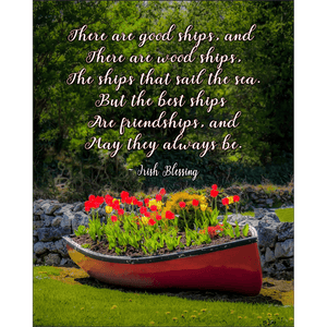 Print - There are Good Ships Irish Friendship Blessing Poster Print Moods of Ireland 8x10 inch