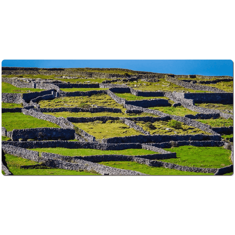 Desk Mat - Stone Walls of Inisheer, Aran Islands, County Galway - James A. Truett - Moods of Ireland - Irish Art
