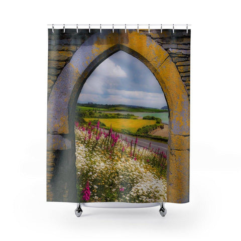 Image of Shower Curtain - Shannon Estuary Wildflowers - James A. Truett - Moods of Ireland - Irish Art