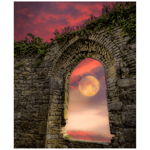 Print - Wolf Moon at Sunrise over County Clare Poster Print Moods of Ireland 20x24 inch