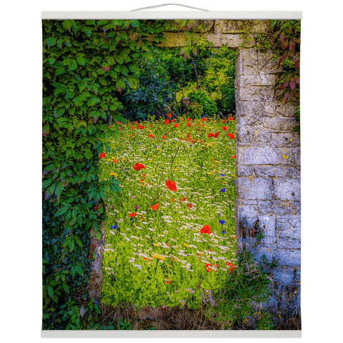 Image of Irish Wall Hanging - Magical Irish Wildflower Meadow in County Clare - James A. Truett - Moods of Ireland - Irish Art