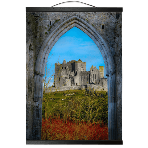 Wall Hanging - Ireland's Wall of Cashel National Monument, County Tipperary Wall Hanging Moods of Ireland 12x16 inch Black