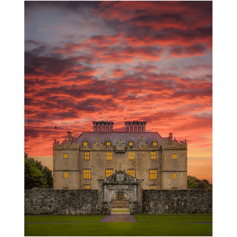 Image of Print - Sunset at Portumna Castle, County Galway - James A. Truett - Moods of Ireland - Irish Art