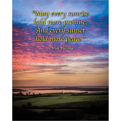 Print - May Every Sunrise Hold More Promise Irish Blessing Poster Print Moods of Ireland 8x10 inch