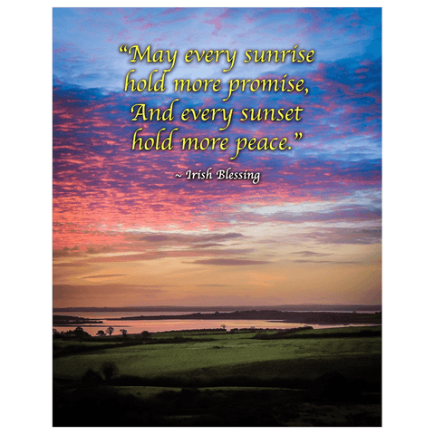 Print - May Every Sunrise Hold More Promise Irish Blessing Poster Print Moods of Ireland 11x14 inch