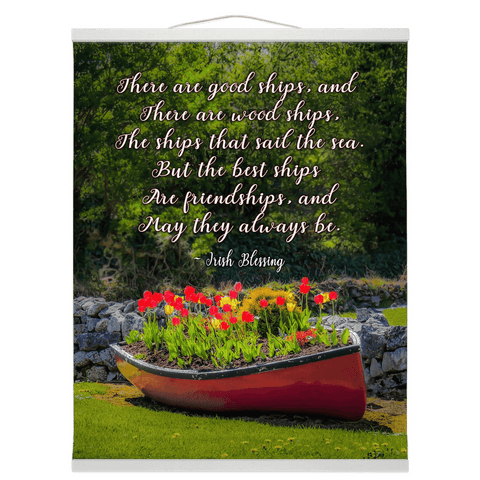 Wall Hanging - Irish Friendship Blessing Wall Hanging Moods of Ireland 16x20 inch White
