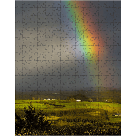 Puzzle - Vibrant Rainbow over County Clare Countryside - James A. Truett - Moods of Ireland - Irish Art