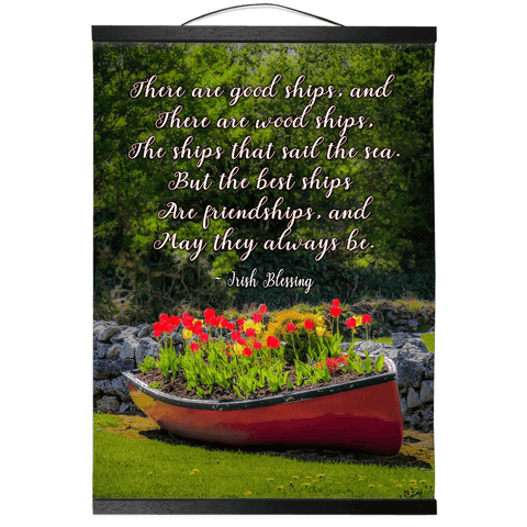 Wall Hanging - Irish Friendship Blessing Wall Hanging Moods of Ireland 12x16 inch Black