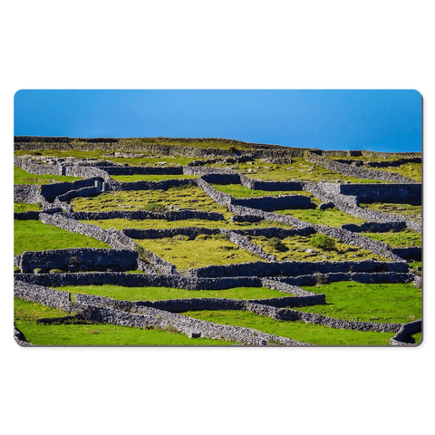 Image of Desk Mat - Stone Walls of Inisheer, Aran Islands, County Galway - James A. Truett - Moods of Ireland - Irish Art