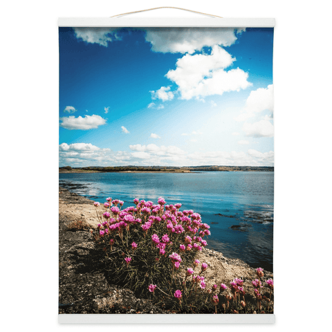 Wall Hanging - Sea Pinks along Ireland's Shannon Estuary