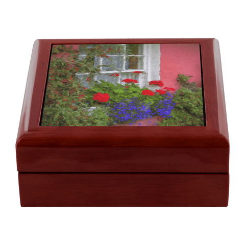 Jewelry Box - Irish Cottage Windowbox at Bunratty, County Clare Jewelry Box teelaunch