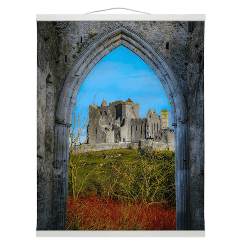 Wall Hanging - Ireland's Wall of Cashel National Monument, County Tipperary Wall Hanging Moods of Ireland 16x20 inch White