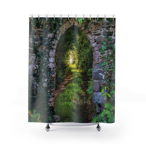 Image of Shower Curtain - Tranquil Irish Path - James A. Truett - Moods of Ireland - Irish Art