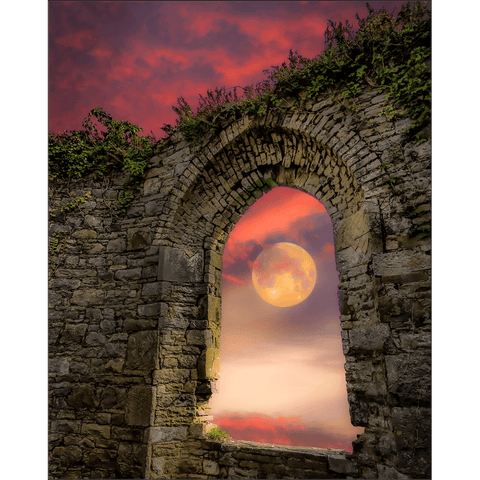 Print - Wolf Moon at Sunrise over County Clare Poster Print Moods of Ireland 8x10 inch