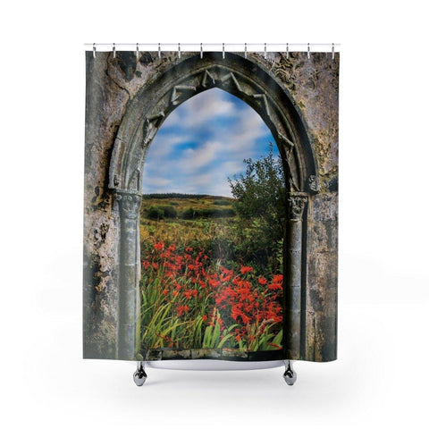 Image of Shower Curtain - Medieval Portal to Irish Summer - James A. Truett - Moods of Ireland - Irish Art