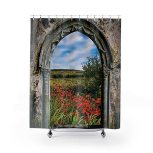 Shower Curtain - Medieval Portal to Irish Summer - James A. Truett - Moods of Ireland - Irish Art