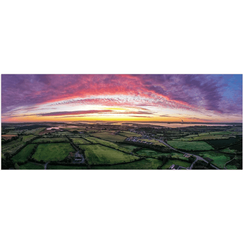 Image of Panorama Print - Autumn Sunrise over Kildysart, County Clare - James A. Truett - Moods of Ireland - Irish Art