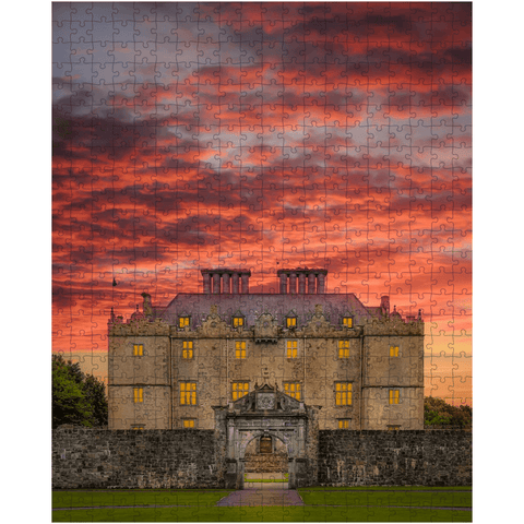 Image of Puzzle - Sunset at Portumna Castle, County Galway - James A. Truett - Moods of Ireland - Irish Art