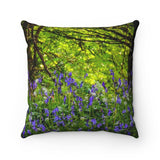 "Throw Pillow Cover - Wild Irish Bluebells in Sunlit Meadow Home Decor Printify 14"" x 14"""