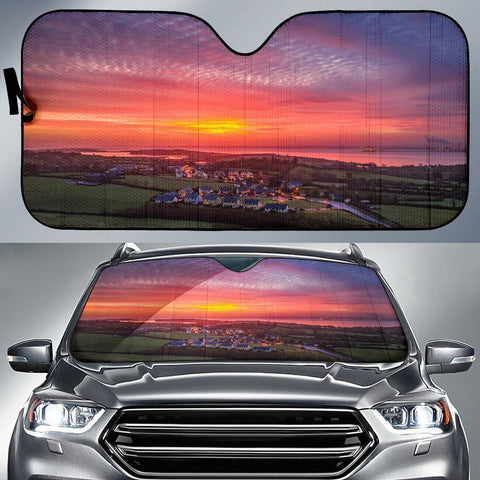 Auto Sun Shade - Spring Sunrise over Kildysart, County Clare Auto Sun Shade Moods of Ireland