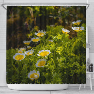Shower Curtain - Irish Poached Egg Flowers Shower Curtain Moods of Ireland