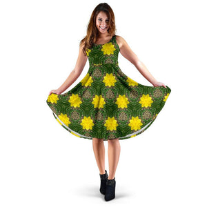 Midi Dress - Irish Spring Daffodil Delight Midi Dress Moods of Ireland